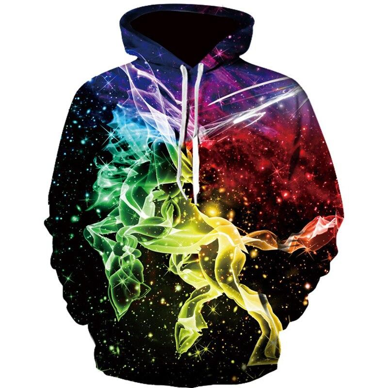 Fashion Trend Galaxy Hoodie Men Long Sleeve Multi-color Printed Autumn and Winter Men Sweatshirt Streetwear Clothing Brand - HS0143-2, L