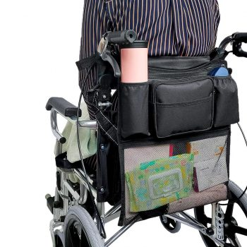 Wheelchair Back Storage Bag Scooter Hanging Pouch Organizer Pocket for Mobility Scooters Walker - 38.5 x 42 cm - China