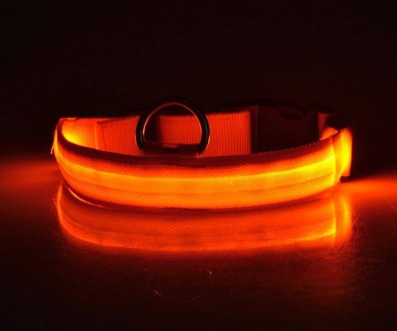 LED Dog Collar Anti-Lost Nylon Light Collar For Dogs Puppy At Night Cool Pug Dog Supplies Pet Products Accessories
