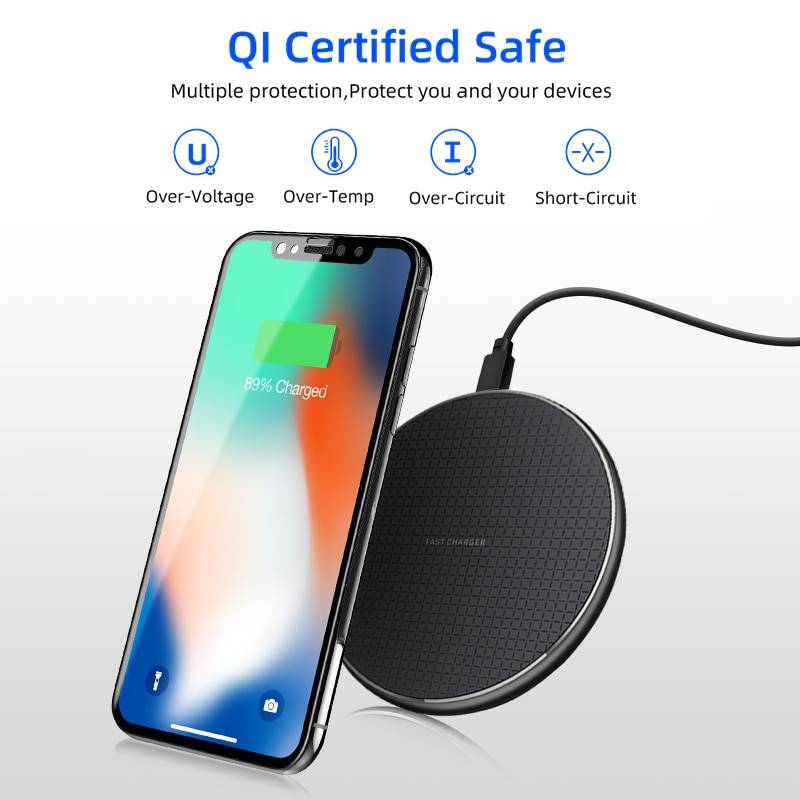 10W 5V 2A Wireless Charger for iPhone 11X 8 Plus XR XS Max Fast Charging Pad for Samsung Note 9 Note 8 S10 Plus Phone Charger