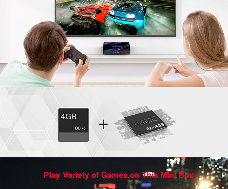 4K Smart TV Box Android 9.0 4GB Ram 32GB/64GB Rom RK3318 USB3.0 BT 4.0 Google Play IPTV Set Top Box
