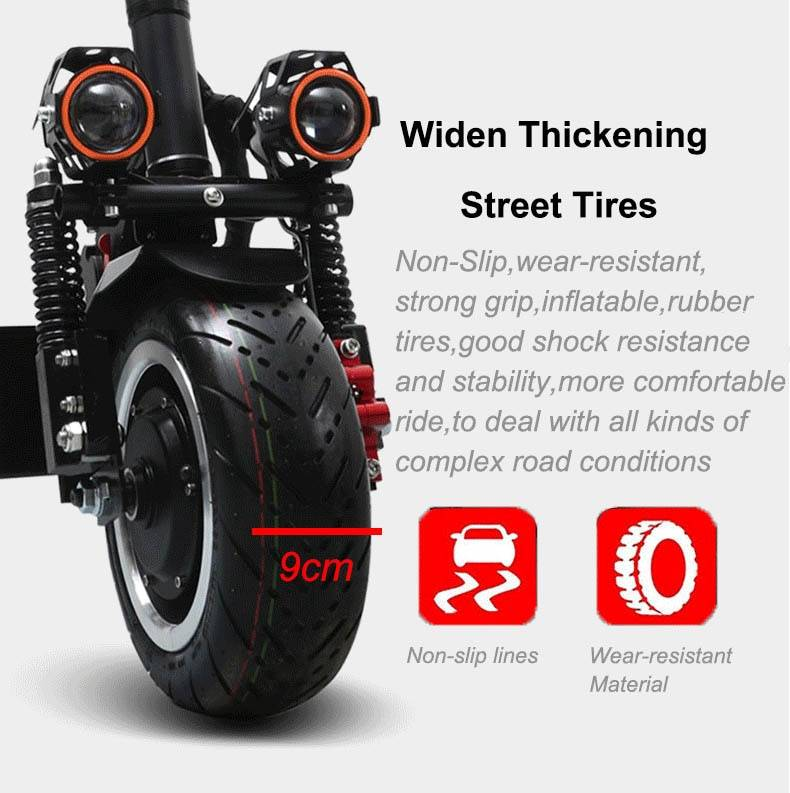 60V3200W Electric Scooter 11 inch Off Road 80KM/H Battery Electric Motor Adult kick e scooter folding patinete electrico adulto